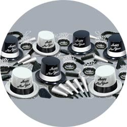 black and white legacy assortment 88592-50 new years party kit