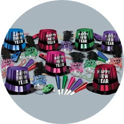 entertainer assortment 88263-50 new years party kit