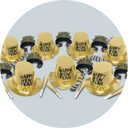 gold platinum for 50 new years party kit