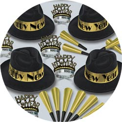 gold swing assortment 88595BKGD50 new years party kit